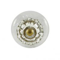 Glas-Möbelknopf - Hazy   Transparent mit Glasring (Rund)