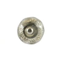 Metall-Möbelknopf - Ava   White Metal (rund)